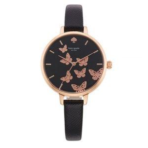 KATE SPADE  Metro Butterfly Leather Watch
